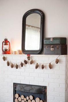 DIY Gold Leaf Pine Cone Garland - The Sweetest Occasion