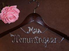 wedding dress hanger!