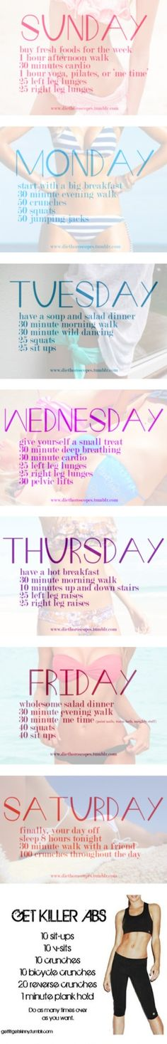 Weekly Exercise - keeping routine