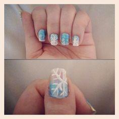 Disney Frozen nails by kittie Disney Frozen Nails, Cute Nails, Health And Beauty, Brooklyn, Nail Designs, Hair Makeup, Nail Art, Hair, Pretty Nails