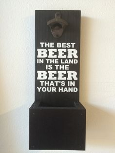 Wall Mounted Bottle Opener With Cap Catcher  by WizardOfDesigns, $32.00