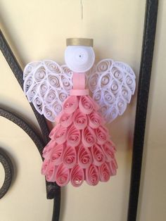 Elige tu color Quilled Angel adorno o Topper por joanscrafts