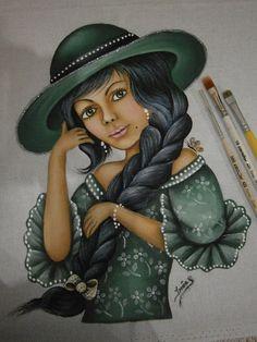 Menina de verde