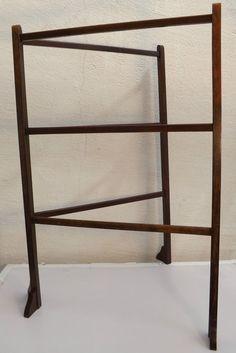 C Edwardian Mahogany Folding Towel Rail