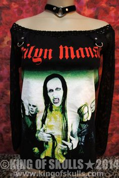 Marilyn Manson DIY Long Sleeves Off The Shoulder by kingofskulls, $59.99