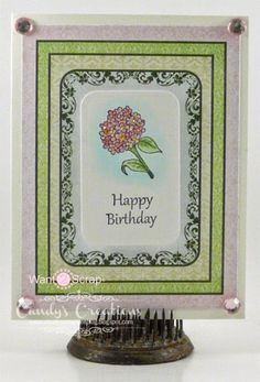 Hydrangea Birthday Note Card by Candy S. - Cards and Paper Crafts at Splitcoaststampers