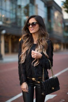 The Top 100 Gorgeous Street Style Looks - Modern Hair Inspo, Hair Inspiration, Baliage Hair, Head Band, Marchesa, Hair Dos, Gorgeous Hair, Dark Hair, Hair Trends