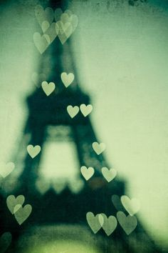 Eiffel Tower of hearts <3 #ParisAmour