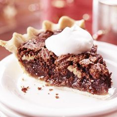 Chocolate Chess Pie A Southern dessert classic, this chess pie is loaded with pecans. Serve it with Texas-size dollops of whipped cream.