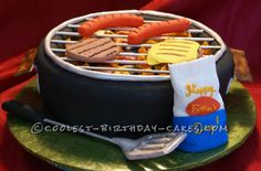Take a look at the coolest BBQ and Meat-shaped cake recipies. You'll also find loads of homemade cake ideas and DIY birthday cake inspiration. Unique Cakes, Creative Cakes, Cupcakes, Cupcake Cakes, Bbq Cake, Fathers Day Cake, Birthday Cakes For Men, 50th Birthday, Just Cakes