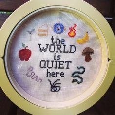 series of unfortunate events cross stitch Cross Stitch Art, Cross Stitch Designs, Cross Stitching, Cross Stitch Embroidery, Embroidery Patterns, Cross Stitch Patterns, You Mean The World To Me, Lemony Snicket, Ever And Ever