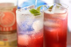This Singapore Sling recipe is a refreshing mix of gin, bitters, fresh-squeezed lime juice, dry cherry brandy, and fizzy soda water. Spring Cocktails, Refreshing Cocktails, Summer Drinks, Cocktail Drinks, Fun Drinks, Cocktail Recipes, Beverages, Drink Recipes, Spicy Drinks