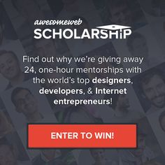 I hope I win an #AwesomeWeb Scholarship to talk with one of these amazing mentors: http://launch.awesomeweb.com
