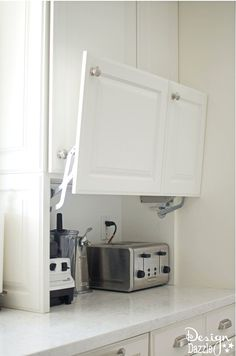 Today I am so excited to share one of my favorite aspects of the kitchen remodel. All the creative hidden kitchen storage solutions I. The post Creative Hidden Kitchen Storage Solutions appeared first on Mack Makeovers. Diy Kitchen Remodel, Kitchen Redo, Home Decor Kitchen, New Kitchen, Kitchen Cabinets, Kitchen Appliances, Kitchen Ideas, Stylish Kitchen, Smart Kitchen
