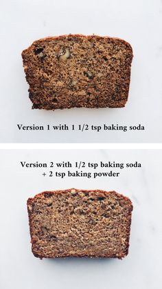 Baking soda makes banana bread turn brown inside and out. Learn how to make more flavourful banana bread with this recipe Best Cake Recipes, Best Breakfast Recipes, Easy Cookie Recipes, Baking Recipes, Baking Tips, Make Banana Bread, Banana Bread Recipes, Easy Loaf Cake Recipe, Classic Scones Recipe