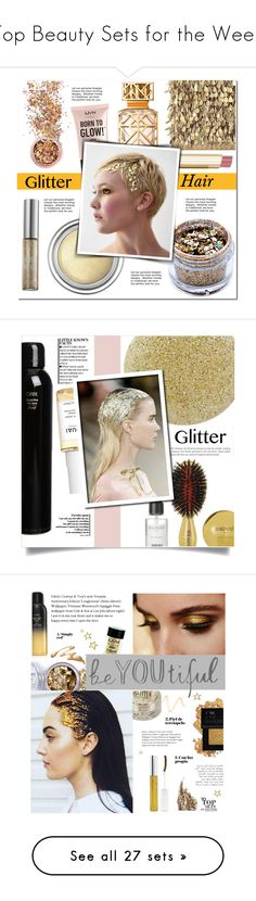 """""""Top Beauty Sets for the Week"""" by polyvore ❤ liked on Polyvore featuring beauty, Forest of Chintz, In Your Dreams, Christian Dior, Tory Burch, NYX, Stila, Urban Decay, glitterhair and Balmain"""