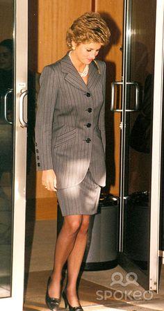Princess Diana at Heathrow Airport, London Photo: Dave Parker-alpha-Globe Photos Inc 1993 Princessdianaretro