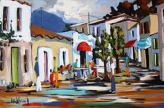 For the ultimate experience in art Gouache Painting, Oil Paintings, Landscape Paintings, South African Artists, Z Arts, House Art, Watercolor Sketch, Picasso, Acrylics