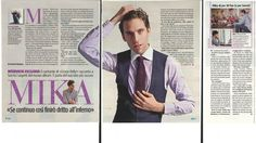 "Mika ""Se Continuo Così Finirò Dritto All'inferno"" - TV Sorrisi e Canzoni magazine - Italian - September 2012"
