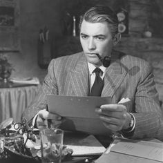 Gregory Peck in The Paradine Case (Alfred Hitchcock,1947)