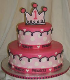 pink princess cake cute by valarie Princess Cupcake Dress, Pink Princess Cakes, Princess Crown Cake, Princess Cupcakes, 1st Birthday Cakes, Disney Princess Birthday, Princess Party, Birthday Parties, Happy Birthday