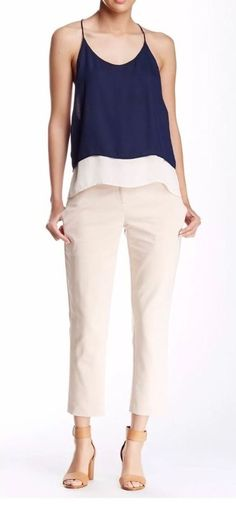 NWT Amanda & Chelsea Women's Cropped Pant Stone Color Size 10  | eBay