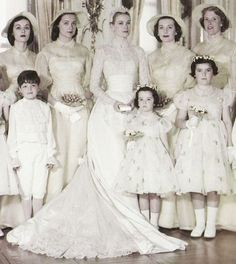 Grace Kelly with her wedding party, 1956.