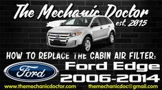 This video will show you step by step instructions on how to replace the cabin air filter on a Ford Edge 2006 - Ford Edge, Air Filter, Step By Step Instructions, Filters, Cabin, Cabins, Cottage, Wooden Houses