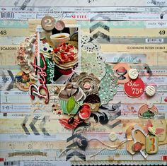 12 x 12 layout By Tania Martyns - just gorgeous!