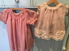 I rescued these girls dresses. They were filthy but look how sweet they are now. S Girls, Girls Dresses, Ruffle Blouse, Antiques, Lace, Sweet, Tops, Women, Fashion