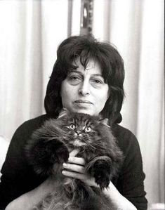 anna magnani and cat  #famous #people #cats