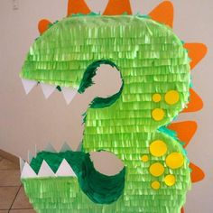 Dinosaur party for kids Birthday decoration Dinasour Birthday, Birthday Pinata, Dinosaur Birthday Party, 4th Birthday Parties, Dinasour Party, Elmo Party, Dinosaur Cake, Mickey Party, Birthday Ideas