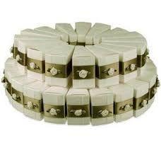 Resultado de imagen para wedding cake portion boxes