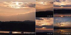 Západ slunce na Máchovým jezerem 4.10.2014