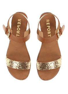 Birkenstock delivers comfort and style with the women's Mayari flat sandals. Pair these trendy thong sandals with denim shorts for a casual weekend look. Cute Sandals, Cute Shoes, Me Too Shoes, Shoes Sandals, Gold Flat Sandals, Gold Flats, Leather Sandals, Glitter Flats, Gold Glitter