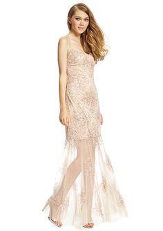 On ideel: AIDAN MATTOX Beaded Sweetheart Dropwaist Gown