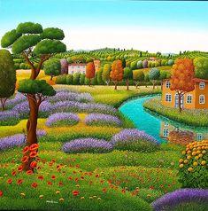 Italy ~ Cesare Marchesini ~ Paesaggio con lavanda