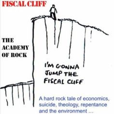 "Fiscal Cliff - The song includes ""The Lord's Prayer according to Economics"" and comes with a free ""Omen Mix"" version of the prayer  Amazon http://www.amazon.co.uk/Fiscal-Cliff/dp/B00E6U9DD0 iTunes https://itunes.apple.com/us/album/fiscal-cliff-single/id680115208"