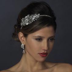 Vintage Side Bridal Headpiece Headband, Free Shipping! #wedding #weddingjewelry #bridal #bridaljewelry #jewelry