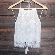 gauzy crochet boho halter top - shophearts - 1
