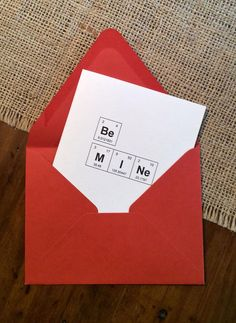 be mine valentine periodic table of the elements nerdy valentines day card by thebirdandthebeard on etsy - Periodic Table Zi