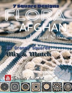 Crochet Flora Afghan Stitch Along Pattern Crochet Crowd, All Free Crochet, Learn To Crochet, Easy Crochet, Flower Crochet, Crochet Granny, Christmas Yarn, Christmas Afghan, Crochet Christmas