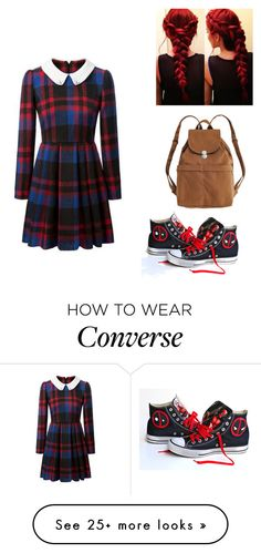 """""""Untitled #378"""" by caitdallon on Polyvore featuring Converse and BAGGU"""