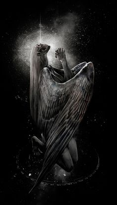 ♥ Burn Bright - Naomi Chen Something I want to try and acheive Angel Of Death Tattoo, Vampire Pictures, Dark Wings, Dark Artwork, Angels Among Us, Dark Fantasy Art, Vincent Van Gogh, Macabre, Dark Side