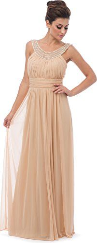 Beaded Bib Long Bridesmaid Mother of the Bride Dress, S, Champagne PacificPlex http://www.amazon.com/dp/B00OEJK6HK/ref=cm_sw_r_pi_dp_R706ub0MZ5GSD