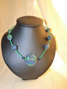 Collier Neptune en polymère - collier ras du cou - atelier2zouzou - Fait Maison