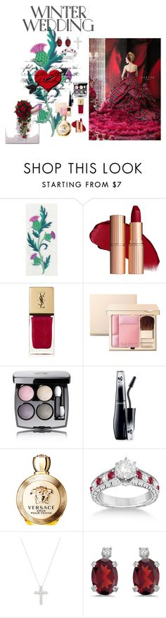 """Scottish Inspired"" by wendy-collins-1 on Polyvore featuring Yves Saint Laurent, Clarins, Chanel, Lancôme, Versace, Allurez, Inner Circle Jewelry and BillyTheTree"