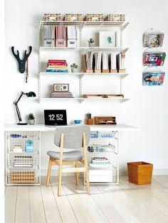 home office neat workspace (via Mi Casa revista)