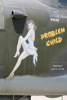 Aircraft art by FrogMiller, via Flickr Problem Child - Girl in White dress