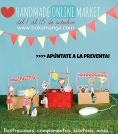 Cartel promocional #bkmmarket para www.bokamanga.com